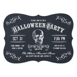"""Fiesta del traje de Halloween del cráneo de la Invitación 5"""" X 7"""""""