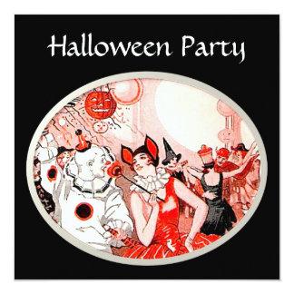 """Fiesta del traje de Halloween del vintage Invitación 5.25"""" X 5.25"""""""