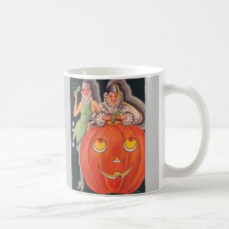 Fiesta del traje de Halloween del vintage Taza De Café