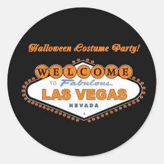 ¡Fiesta del traje de Halloween en VEGAS! Pegatina