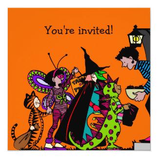 """Fiesta del traje de Halloween Invitación 5.25"""" X 5.25"""""""