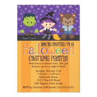 """Fiesta del traje de Halloween Invitación 5"""" X 7"""""""
