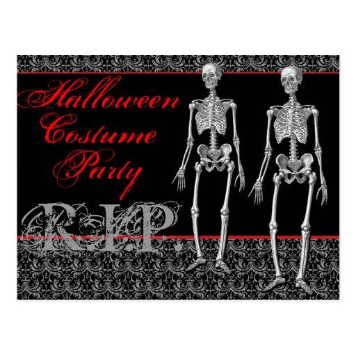 ¡Fiesta del traje de Halloween - subida de los Postal