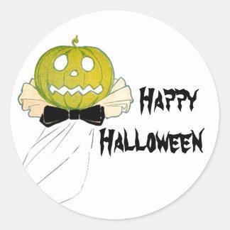Fiesta del traje de la máscara de Halloween JOL Pegatina Redonda