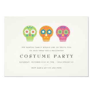 """Fiesta del traje de los cráneos del azúcar invitación 5"""" x 7"""""""