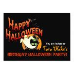 """Fiesta del traje del feliz Halloween Invitación 5"""" X 7"""""""