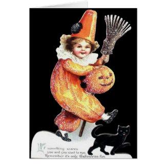 Fiesta del traje el chispear de Halloween del Tarjeta De Felicitación