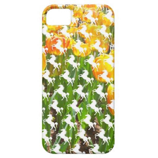 Fiesta del tulipán del unicornio iPhone 5 Case-Mate carcasa