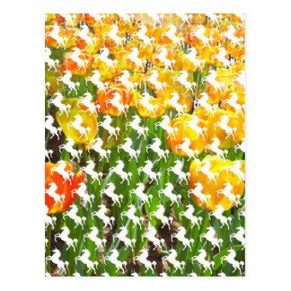 Fiesta del tulipán del unicornio postales