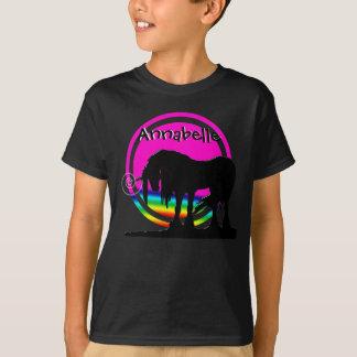 Fiesta del unicornio del arco iris playera