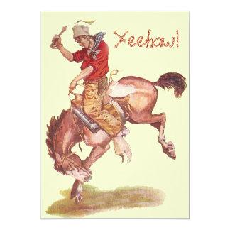 Fiesta del vaquero comunicado personalizado