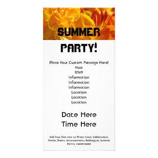¡Fiesta del verano! Bbq de las comidas campestres Tarjeta Fotografica
