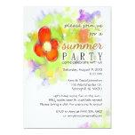 Fiesta del verano - invitación floral invitación 12,7 x 17,8 cm