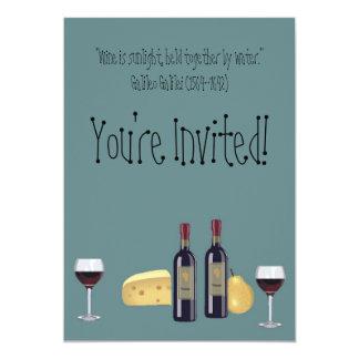 Fiesta del vino y del queso+Cita Invitación 12,7 X 17,8 Cm