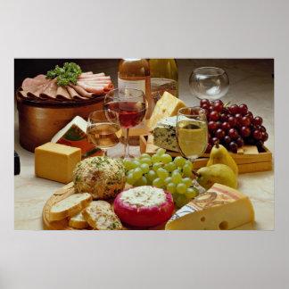 Fiesta del vino y del queso póster