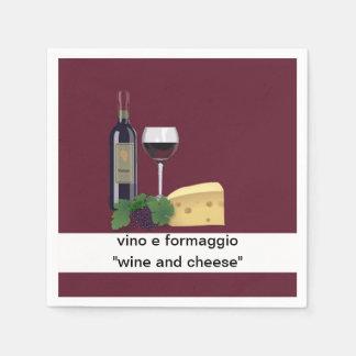 Fiesta del vino y del queso servilletas de papel