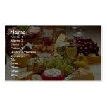 Fiesta del vino y del queso plantillas de tarjetas personales