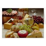 Fiesta del vino y del queso tarjetón