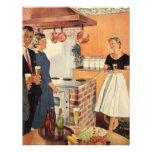 Fiesta del vintage en la cocina, la cerveza y los  anuncios personalizados