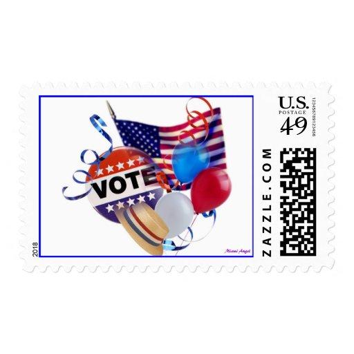 Fiesta del voto timbres postales