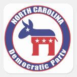 Fiesta Democratic de Carolina del Norte Calcomania Cuadradas Personalizadas