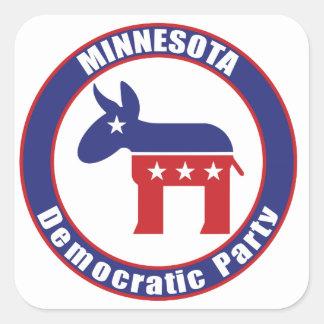 Fiesta Democratic de Minnesota Pegatina Cuadrada