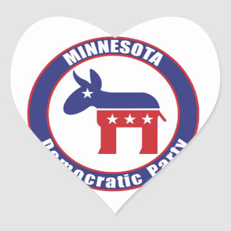 Fiesta Democratic de Minnesota Pegatina En Forma De Corazón