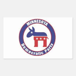 Fiesta Democratic de Minnesota Pegatina Rectangular