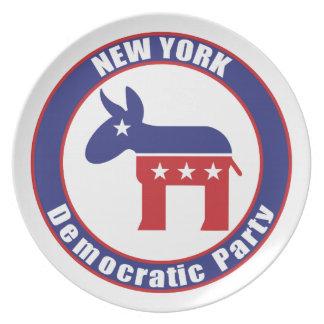 Fiesta Democratic de Nueva York Plato