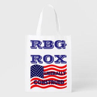 Fiesta Democratic liberal de RBG ROX Ginsburg Bolsas Reutilizables