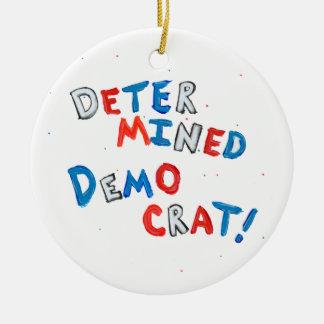 Fiesta democrático resuelto único de la diversión adorno navideño redondo de cerámica