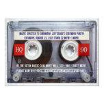 Fiesta divertido de Mixtape del casete 80s Invitación 11,4 X 15,8 Cm
