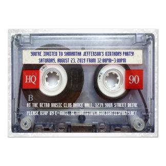 """Fiesta divertido de Mixtape del casete 80s Invitación 4.5"""" X 6.25"""""""