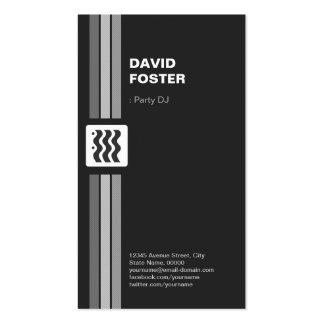 Fiesta DJ - El doble superior echó a un lado Tarjetas De Visita