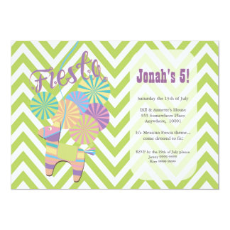 Fiesta Donkey Pinata Birthday Party Card