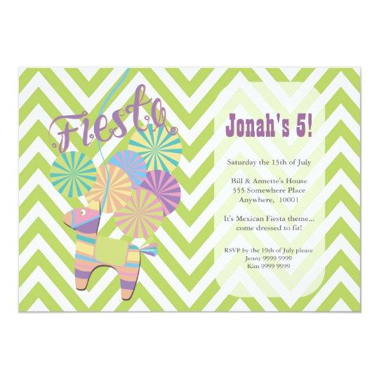 Fiesta Donkey Pinata Birthday Party Card