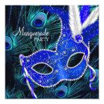 Fiesta elegante de la mascarada del pavo real del anuncio