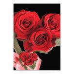 Fiesta elegante del negro del rosa rojo de RSVP Invitacion Personalizada