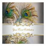 Fiesta elegante del oro azul del trullo del pavo anuncio