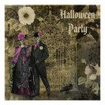 Fiesta elegante lamentable elegante de Halloween d Invitaciones Personales