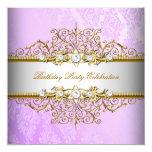 Fiesta elegante púrpura del oro blanco de la lila comunicados personales