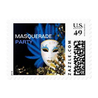 Fiesta elegante retro de la mascarada del vintage sellos