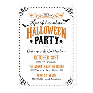 """Fiesta elegante rústico de Spooktacular Halloween Invitación 5"""" X 7"""""""