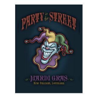 Fiesta en la calle tarjeta postal