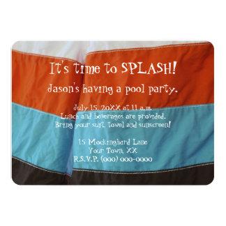 Fiesta en la piscina de los muchachos comunicado personalizado