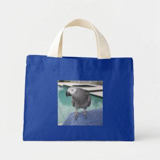 Fiesta en la piscina del gris africano bolsa tela pequeña