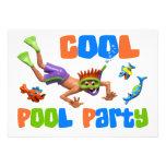 Fiesta en la piscina fresca