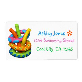 Fiesta en la piscina fresca etiquetas de envío