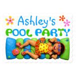 Fiesta en la piscina fresca anuncios personalizados