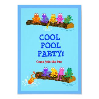 ¡Fiesta en la piscina fresca! Invitación 12,7 X 17,8 Cm